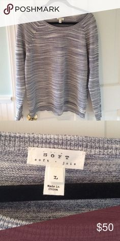 Soft Joie Spacedye Sweater Beautiful blue spacedye sweater from Soft Joie. Only worn once and in excellent condition! Joie Sweaters Crew & Scoop Necks