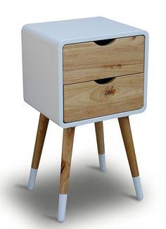 Teléfono mesa madera blanco 35 x 35 x 70 cm de noche (mesa consola Consola mesa auxiliar mesa andados änckchen Paulina - Cómoda Modern skandinavisch Diseño Retro Look Nuevo: Amazon.es: Hogar