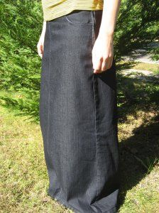 d8c55f28cdfff A-line Long Denim Skirt  3534  -  42.00    DCM Apparel - Modern Modest  Clothing
