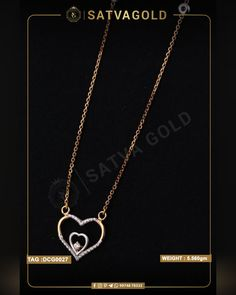 Adeline Heart Chain Pendant is a delight to have in your jewellery collection. The beautiful design includes a heart inside the heart and a diamond placed inside them. It is made of pure gold and has true gemstones encrusted to dazzle up. . . #satvagold #gold #puregold #kada #ring #rakhi #rakhshabandhan #giftforsister #bracelet #explore #18ct #18k #22k #rosegold #yellowgold #hallmark #hallmarkjewellery #celebration #sister #diamond #gems #beautiful #goldjewellery #jewellerydesign Gold Chain With Pendant, Chain Pendants, Pendant Set, Gold Jewelry, Gold Necklace, Jewellery, Heart Chain, Gold Ornaments, Sister Gifts