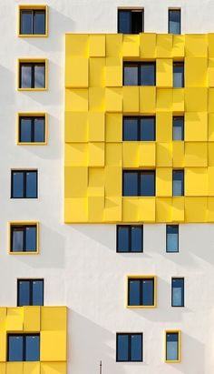"""Microcity v lesu"", Moscow, Russia - Architecture Lab Colour Architecture, Facade Architecture, Beautiful Architecture, Minimal Photography, Architectural Photographers, Big Design, Building Facade, Facade Design, Mellow Yellow"