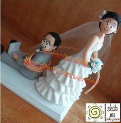 novios, figuras pastel de boda, cake toppers personalizados
