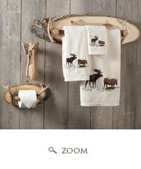 Love the rustic towel rack and tp holder and stuff, want for our bathroom