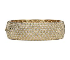 Radiance Pavé Diamond Bangle in 18k Yellow Gold (16.88 ct. tw.)