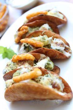 Indian food tacos---- crave indian but cinco de mayo ........um check