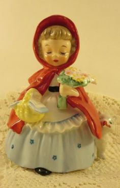 """Authentic 1956 VINTAGE NAPCO """"Little Red Riding Hood with dog"""" (Japan A1492A)"""