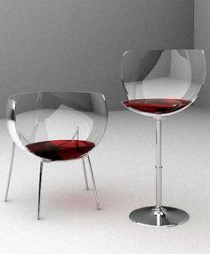 "Merlot' stool and chair www.LiquorList.com ""The Marketplace for Adults with Taste!"" @LiquorListcom   #LiquorList.com"