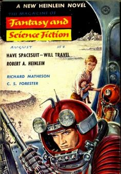 The Magazine of Fantasy and Science Fiction, August 1958, cover by Ed Emshwiller