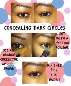 Beauty by Lee shows how to conceal dark under eye circles Concealing+dark+circles+with+color+corrector/concealer Girls Makeup, Love Makeup, Makeup Tips, Makeup Looks, Makeup Trends, Makeup Tutorials, Makeup Ideas, All Things Beauty, Beauty Make Up