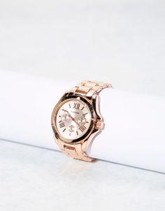 Reloj metal - New - Bershka Mexico