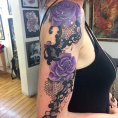 Elegant Lace Tattoo Design