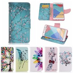 Magnetic Flip Leather Phone Case Wallet Stand Cove For Samsung Galaxy A3 A5 2016 A310 A510 Dirt-Resistant Book Back Cover Case