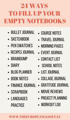 24 ways to fill up your empty notebooks Bullet Journal Notebook, Bullet Journal Ideas Pages, Bullet Journal Inspiration, Book Journal, Journals, Notebooks, Journal Writing Prompts, Writing Tips, Things To Do When Bored