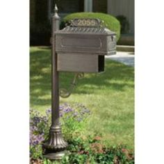 Check out the Hanover Lantern M96S Muirfield Village Mailbox with News Tube and Vinyl Numbers Sign