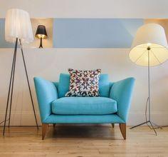 Rume Hove Showroom: Our Oriel armchair and the Kaleidoscope Butterfly Cushion from @Kristjana Guðjónsdóttir S Williams