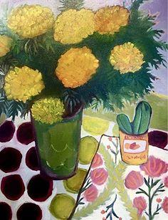 Marigolds Et Cactus