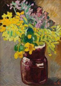Cruche marron et coucous, par Louis Valtat (French, Monet To Matisse, Henri Matisse, Georges Braque, Found Art, Flower Oil, French Artists, Painting & Drawing, Design Art, Floral Paintings