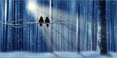 "Poster: ""Liebe im Winter"" - Romantic Wall Art by Mausopardia - Romantische Wandbilder von Mausopardia bei Posterlounge!"