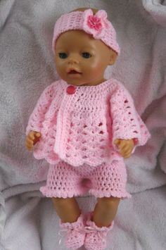 Crochet pattern for 17 inch baby doll by petitedolls Click VISIT link for more details