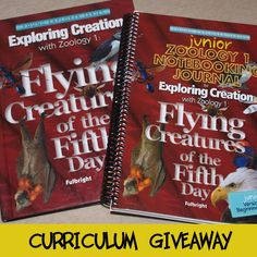 Need some FREE science homeschool curriculum? Don't forget to come by and enter my Giveaway for copies Jeannie Fulbright's Exploring Creation with Zoology 1: Flying Creatures of the Fifth Day Student Text AND JUNIOR version Notebooking Journal!