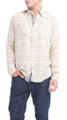 Yellow Stripe Shirt.