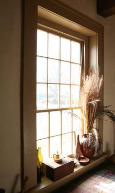 Kitchen window at the Stephenson House Museum in Edwardsville, IL. See more in the upcoming October 2013 issue of Early American Life magazine. http://www.stephensonhouse.org/ #windows #earlyamericanlife