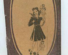 Vintage Sewing Pattern 1930s Girls Short Sleeve Dress Mail