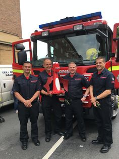 George was a very happy little chappy to meet the fire fighters from Norfolk Fire Service. They were demonstrating their amazing fire engine at the Norfolk Food and Drink Festival at The Forum in Norwich.