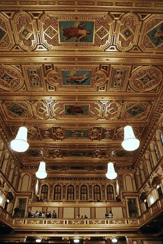 Golden Hall ~ Musikverein:  Famous for its acoustics, this is the venue for the Vienna Mozart Orchestra. The performers are dressed in period costume and perform all Mozart except for a couple of Strauss pieces at the end.