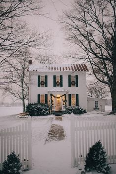 Awww, white picket fence and everything.