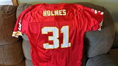 KANSAS CITY CHIEFS PRIEST HOLMES FOOTBALL JERSEY SIZE L 14-16 YOUTH TEAM REEBOK