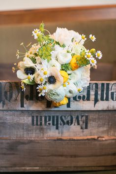 Yellow Spring Wedding Flowers ~ Featured on Love My Dress