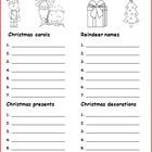 Christmas Categories is a fun way to categorize seasonal vocabulary. This freebie is a great brainstorming activity to do as a large or small group...