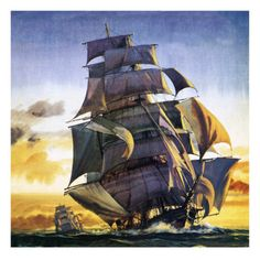 size: Giclee Print: Cutty Sark Art Print by English School : Fine Art Weather Art, Old Sailing Ships, Boat Names, Ship Art, Tall Ships, Find Art, Framed Artwork, Pirates, Giclee Print