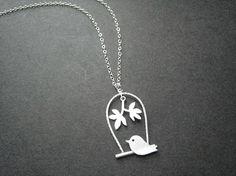 Swinging birdie necklace!