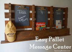 EASY+Pallet+Message+Board or outside for grill tools, sprays, etc
