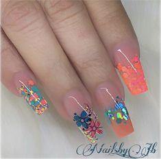 20 Beautiful Nail Art Ideas 2019 For Girls Summer Acrylic Nails, Best Acrylic Nails, Acrylic Nail Designs, Nail Art Designs, Jb Instagram, Instagram Nails, Bling Nails, Swag Nails, My Nails