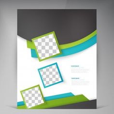 Folheto de folhetos modernos de vetores abstratos. Presentation Design Template, Flyer Design Templates, Flyer Template, Powerpoint Background Design, Poster Background Design, First Grade Math Worksheets, Cover Page Template, Brochure Cover Design, Flower Doodles