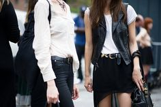 Street Style NYFW - The popular black and white choice...