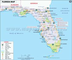 Get The Beautiful Map Of Florida State Showing The Major Attractions