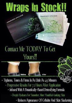 Wraps in STOCK!! Try yours today's! $25 for one wrap or become a loyal customer and get a box of 4 at my price, $59. gethealthywithannmarie.myitworks.com
