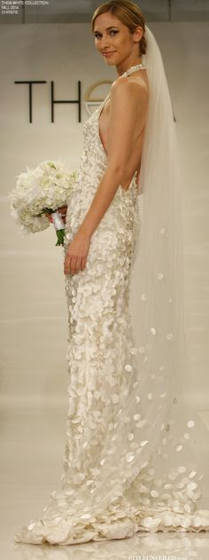 6788a469f44fd THEIA White for Fall 2014 - Wedding Dresses - Christie    http   styleunveiled