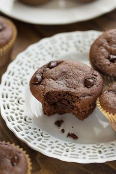Healthy Chocolate Almond Butter Muffins! Flourless, gluten-free, refined-sugar-free and so easy to make!