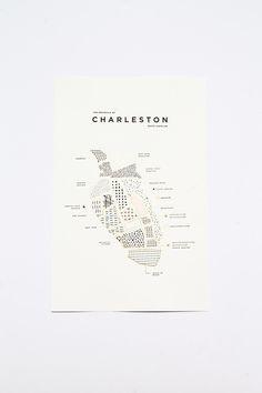 amazing local artist map <3 CHARLESTON