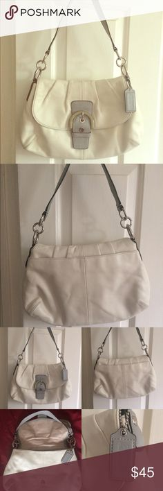 Coach Shoulder Bag Authentic Coach shoulder bag, very excellent condition.                                                                   Very small stains in back of the bag.                 No rips or tears. Coach Bags Shoulder Bags
