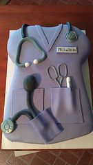 Nurse Cake (or in my case, Vet Tech Cake) This one is even better than the other one I pinned.  Love it!