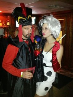 jafar and cruella disney villains couples costume