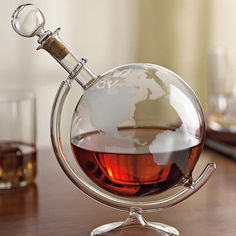 Nothing showcases the hue of an aged spirit quite like a decanter. Whether one wants to show off cognac, scotch or rum, the etched globe decanter from Bourbon & Boots delivers a worldly, refined aesthetic. It's composed of lead-free, heat-resistant...