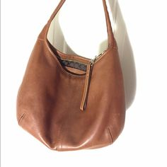 Coach mini hobo bag Super cute Coach mini hobo bag in chestnut color leather. Great condition. Coach Bags Hobos