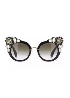 d5a6846ae09 Miu Miu SMU04S black grey shaded (1AB-0A7) Sunglasses  fashion